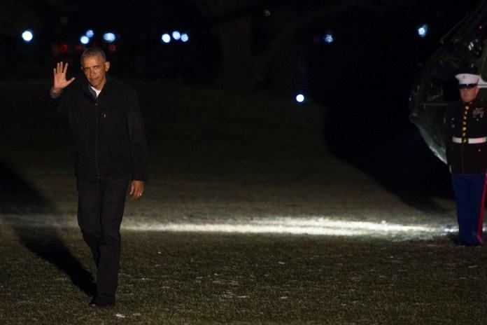 Obama Returns to White House