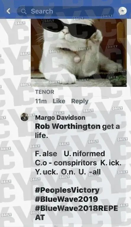 Outraged Delaware County State Representative Margo Davidson took to Facebook to curse out a concerned constituent from her district. (PHOTO: yc.news)