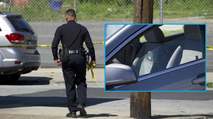 Police in Chester City, Delaware County on the scene of a shooting on Easter Sunday. (© YC.NEWS EXCLUSIVE/ERIC NORTON)