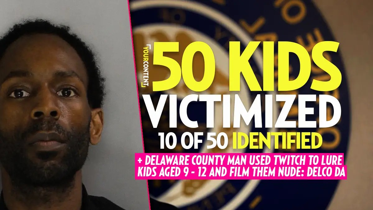 Delco Man Hit with 100 Counts of Felony Child Pornography Charges, Over 50 Kids Victimized