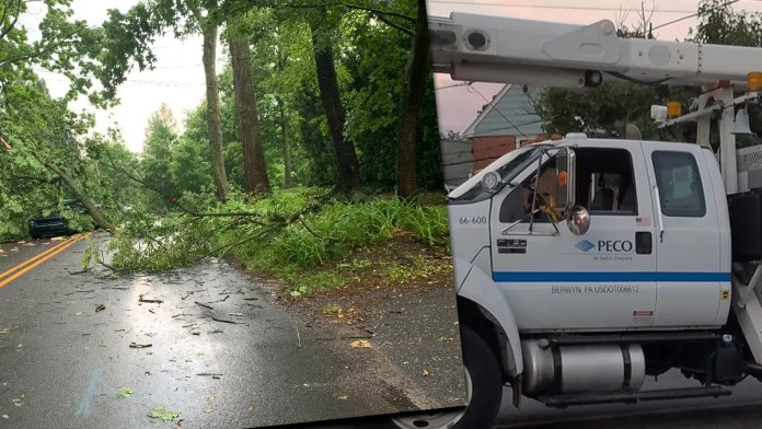 Power Out in Delco? PECO Says They Won't Be Coming Out Anytime Soon as 911 Calls Pour In