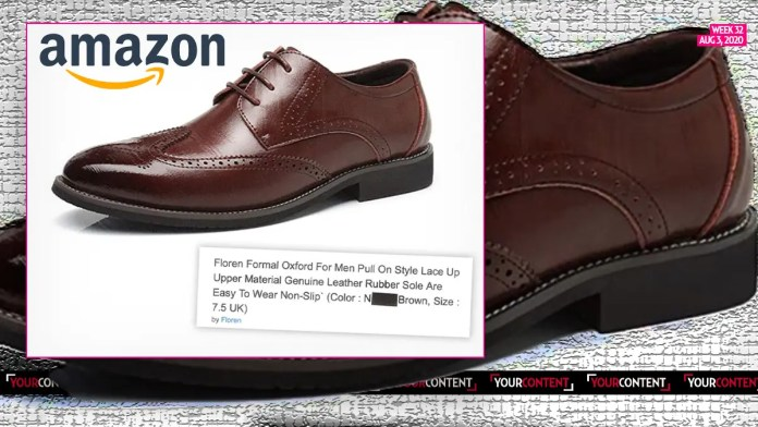 Amazon Selling 'N' Word Shoe Color in UK to Describe Brown
