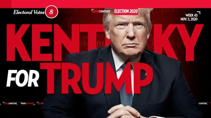President Donald Trump Wins Kentucky