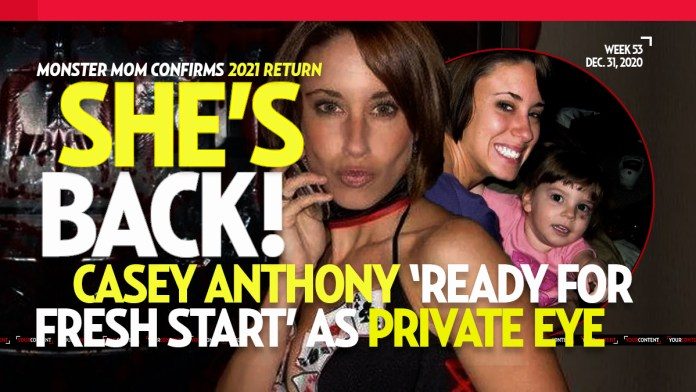 Casey Anthony to Become Certified Private Detective in Florida Jan. 1, 2021