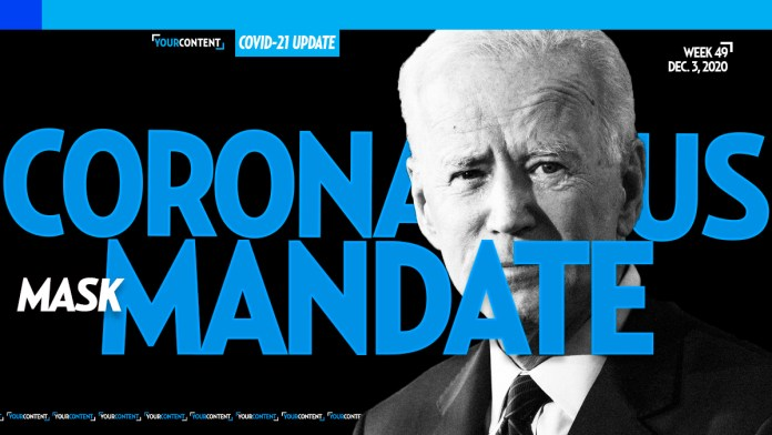 WE TOLD YOU FIRST! Joe Biden WILL Mandate Masks for First 100 Days, President-Elect Tells CNN