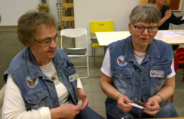 Lilian Johansson och Marianne Eliasson efter en väl genomförd tävling.