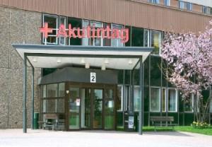 På lördag förmiddag blev det ett besök här på Akuten, Borås sjukhus.