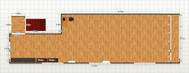 Sala de repetitii Duplex.TK cu dimensiuni