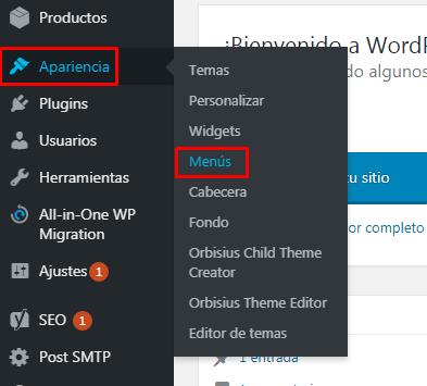poner categorias de productos en menu wordpress