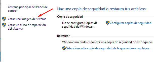 como crear una imgen en windows 10