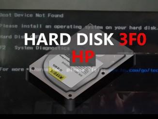 error disco duro 3f0 hp