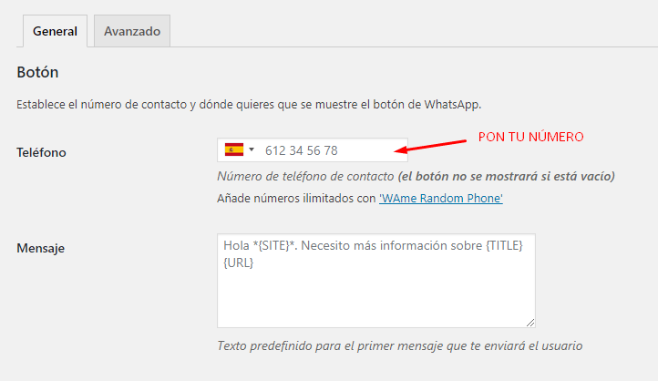 como poner whatsapp en wordpress