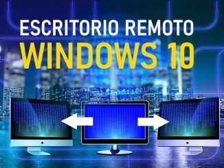 configurar escritorio remoto en windows 10