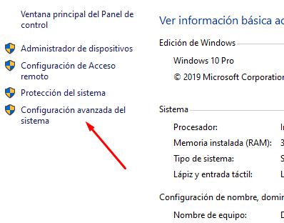 activar conexion esritorio remoto windows 10