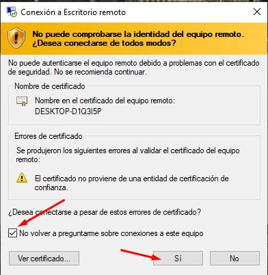 como permitir la conexion a escritorio remoto