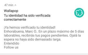 verificacion de identidad wallapop wallapay