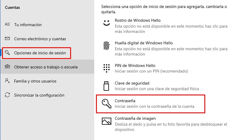 poner clave en windows 10