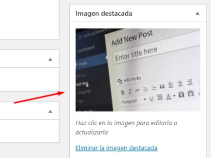 como añadir una imagen destacada en wordpress