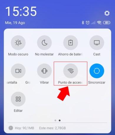 como crear una zona wifi portatil xiaomi redmi note 8