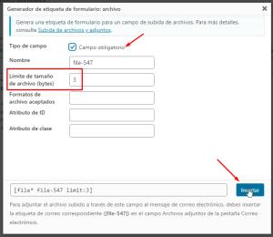 contact form archivo adjunto