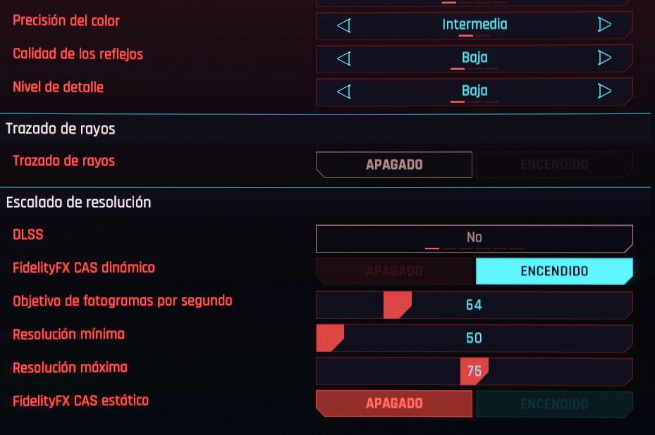 fidelity fx cas dinamico cyberpunk 2077