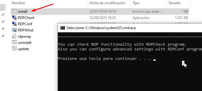 ejecutar install.bat multisesion windows 10