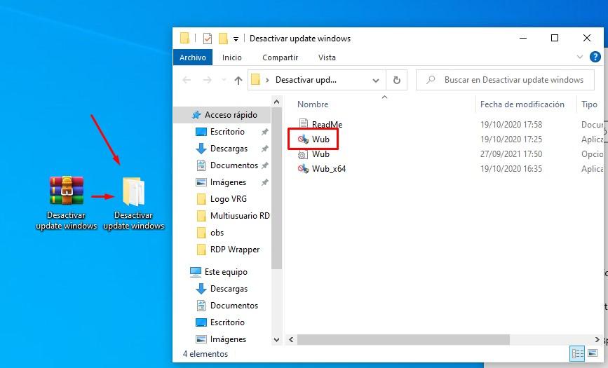Wub desactivar actualizaciones windows 10