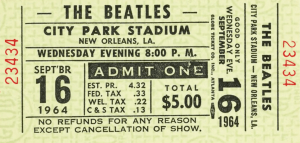 Beatles- New Orleans - Ticket