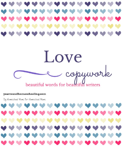 Free Valentine's Day Copywork - By Jennifer Harrison