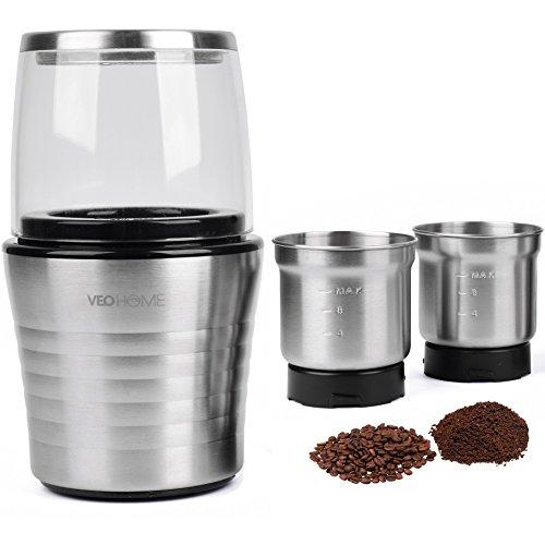 moulin à café et mixeur électrique veohome pour grains de café