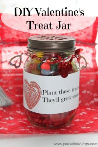 DIY Valentine's Treat Jar With FREE Printable