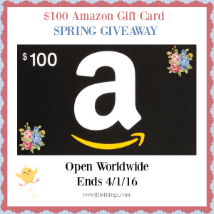 $100 Amazon Gift Card SPRING Giveaway