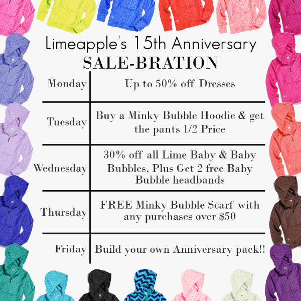 Limeapple 15th Anniversary Sale