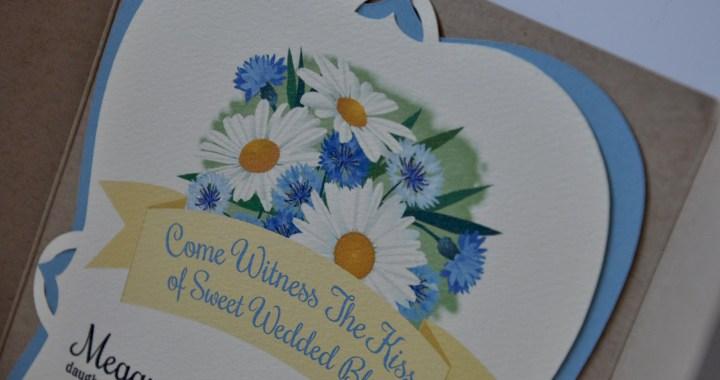 Watercolor & Lace Wedding Invitation