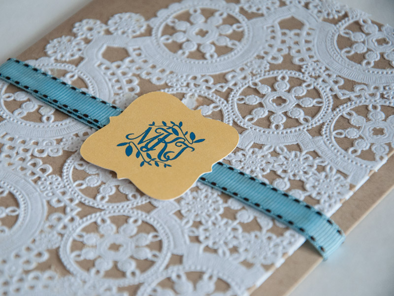 Watercolor & Lace Wedding Invitations by yeiou {paper objects}