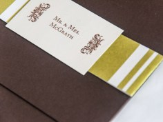 Frank Lloyd Wright Inspired Autumn Invitations by yeiou {paper objects} - Detail