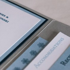 Winter Wonderland Invitations by yeiou {paper objects} - Detail