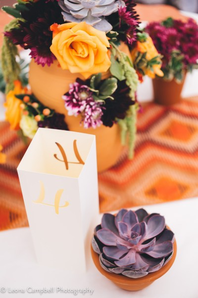 Table Numbers at the Big Fake Wedding