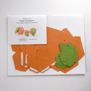yeiou paper objects paper pumpkin craft kit
