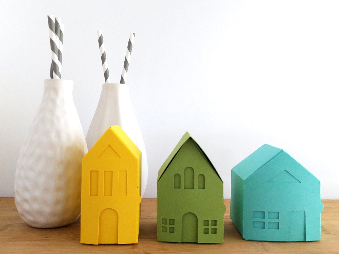 Fold your own tiny paper village, yeiou paper objects