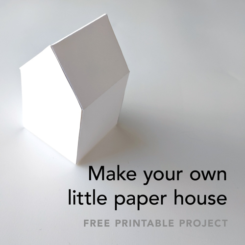 Join the list and download a free printable tiny paper house