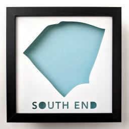 Boston South End Map Art