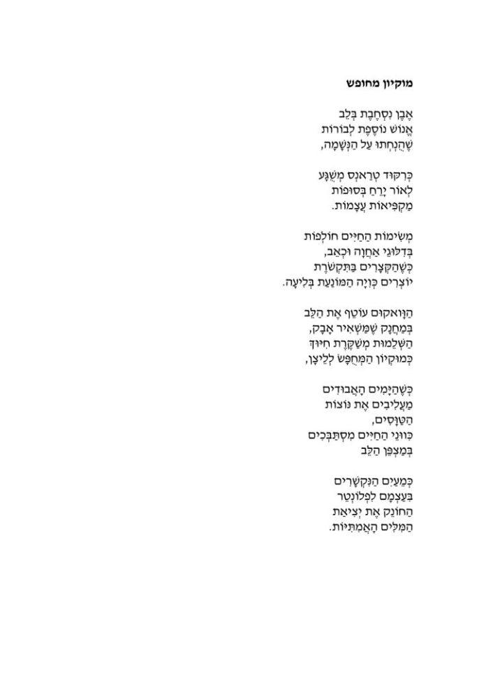 השיר ״מוקיון מחופש״ של שני ארנהיים
