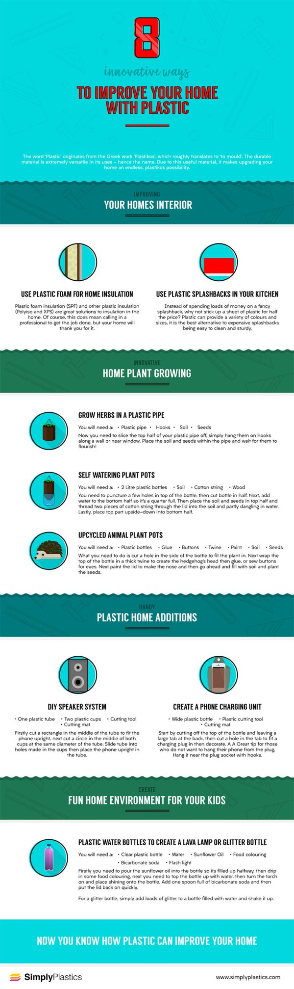 8 innovative ways to improve your home with plastic