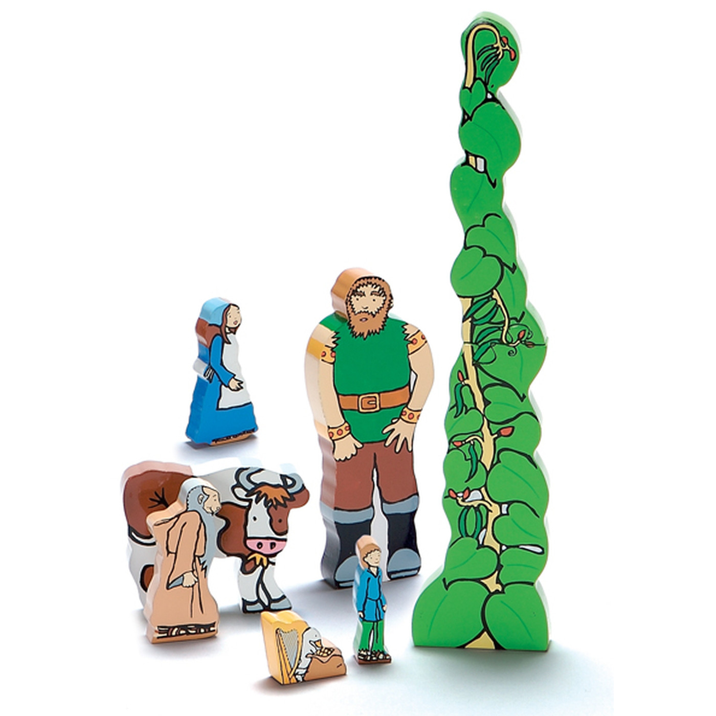 Jack And The Beanstalk Wooden Characters Storytelling