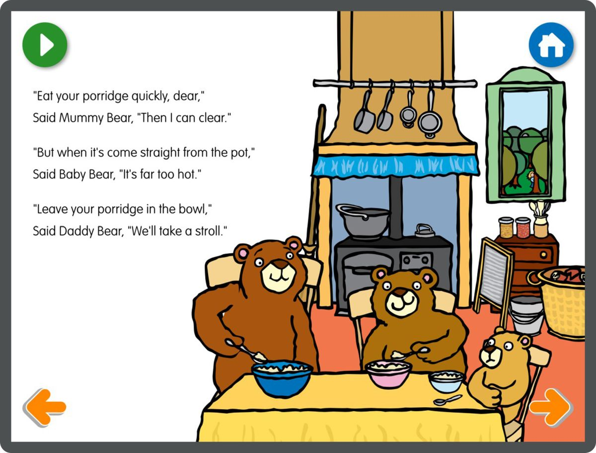 Goldilocks And The Three Bears Interactive Story App