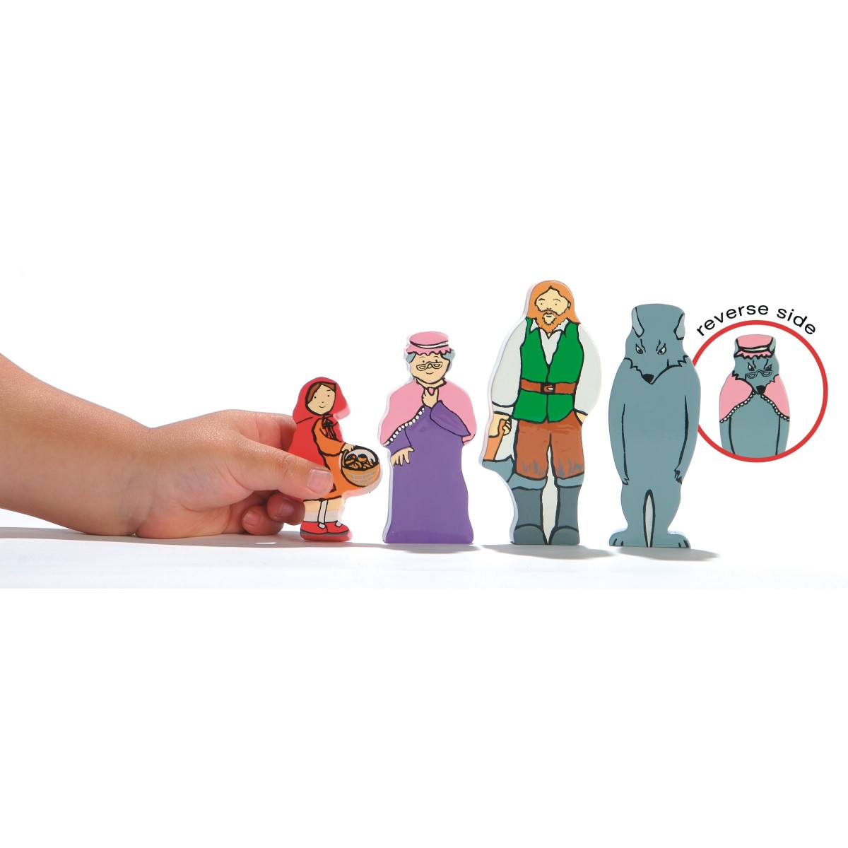 Little Red Riding Hood Wooden Figures For Storytelling
