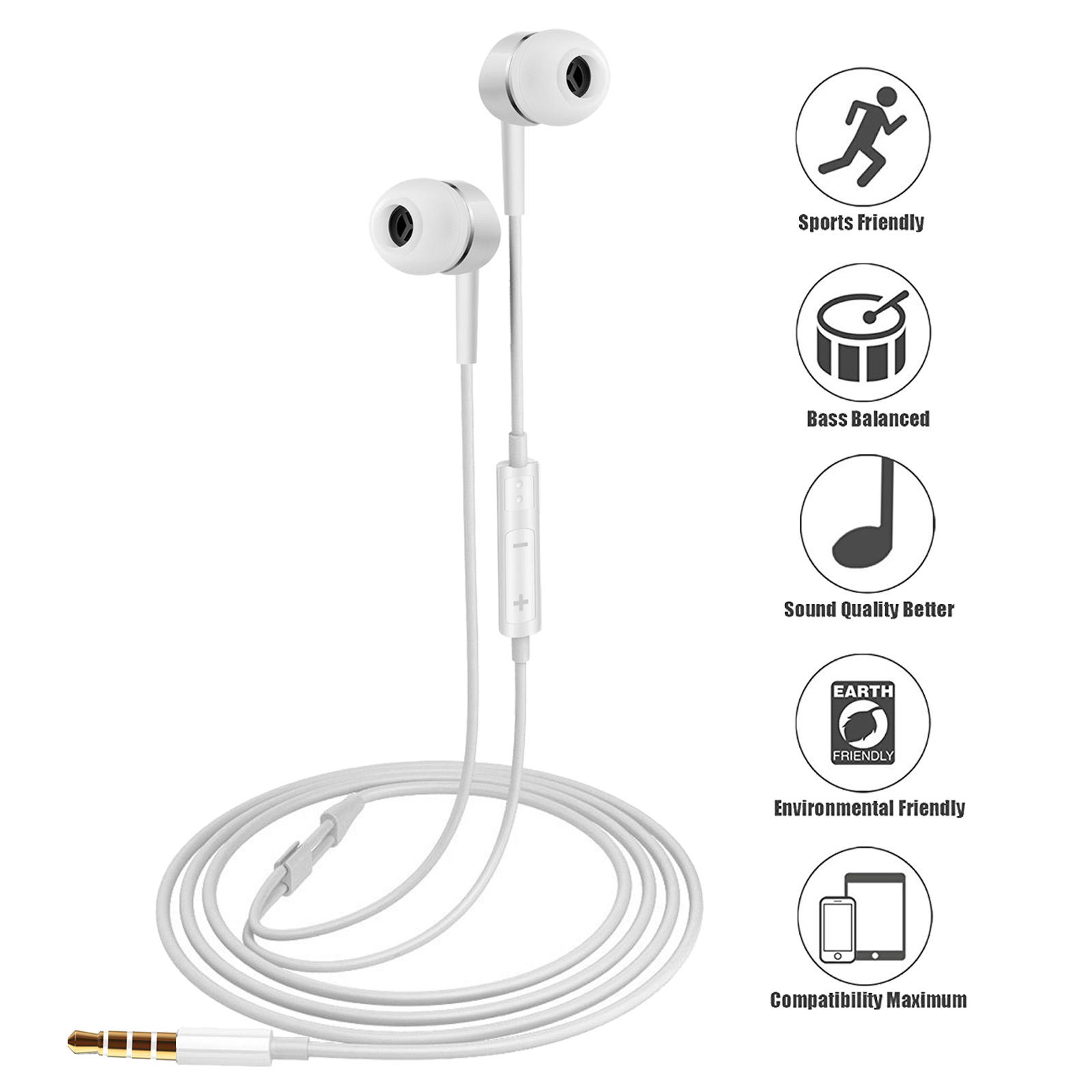 Genuine Oem Earphones Headphones Headset 3 5mm Jack With