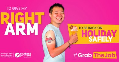 """People in Southend urged to """"Grab The Jab"""""""