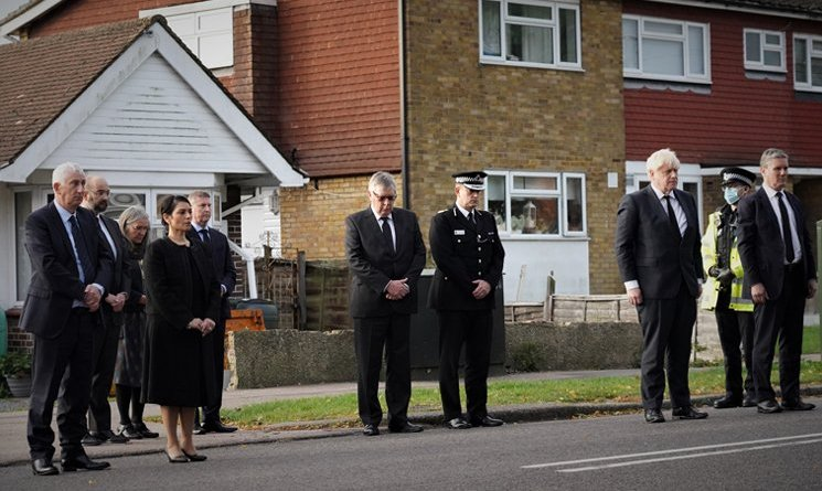 Prime Minister, Home Secretary, Leader of the House and Leader of the Opposition pay respects to Sir David Amess MP